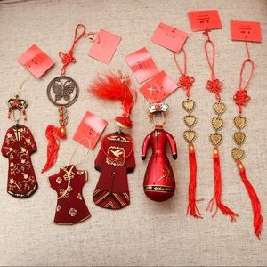 Other - Oriental Glass/Metal Christmas/New Year Ornaments